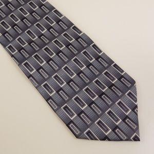 Umo Lorenso Men's Necktie Made in Italy Gray Black